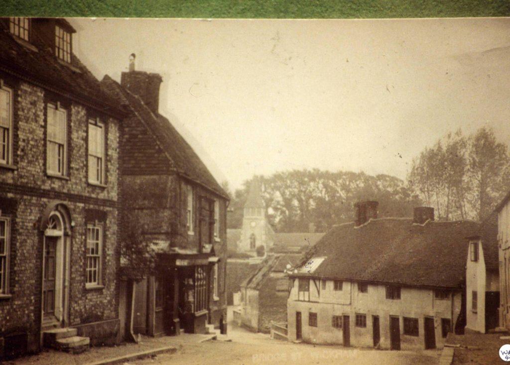 SW 2 Bridge Street looking South - early 1900s